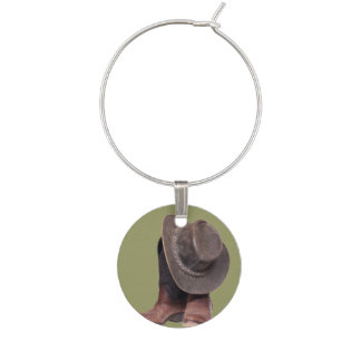 Cowboy Hat and Boots Wine Glass Charm