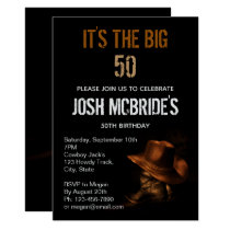 Cowboy Hat and Leather Boots Masculine Personalize Invitation