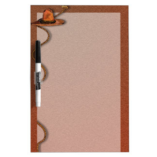 Cowboy Hat and Rope Dry-Erase Board