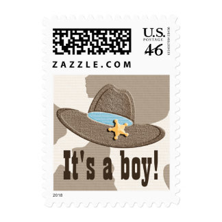 Cowboy Hat Baby Boy Postage Stamps