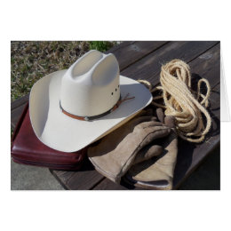 Cowboy Hat Bible Christian Western Greeting Card