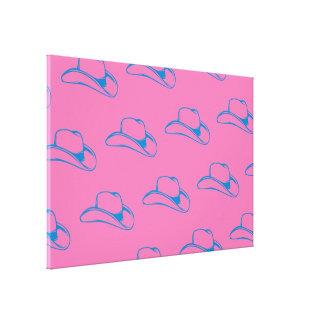 Cowboy Hat Blue Pink.ai Canvas Print