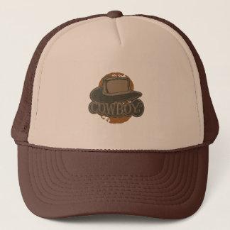 Cowboy! Hat! Brown Trucker Hat