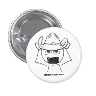 Cowboy Hat @frenchtoastly Pinback Button