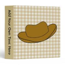 Cowboy Hat illustration. Brown. 3 Ring Binder