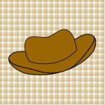 Cowboy Hat illustration. Brown. Cutout