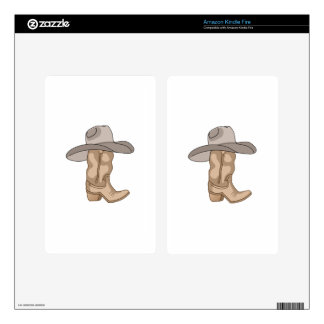 COWBOY HAT ON BOOT SKINS FOR KINDLE FIRE