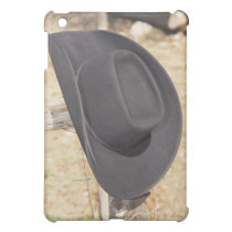 Cowboy hat on fence iPad mini cover