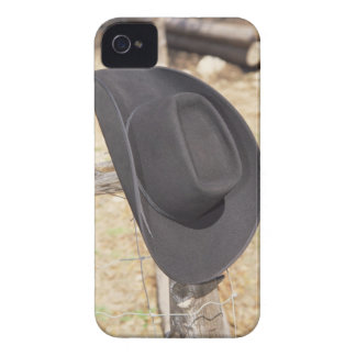 Cowboy hat on fence iPhone 4 cover