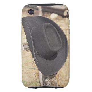 Cowboy hat on fence tough iPhone 3 case