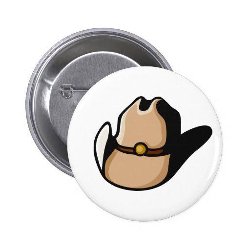 Cowboy Hat Pinback Buttons