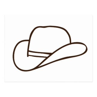 Cowboy Hat Postcard