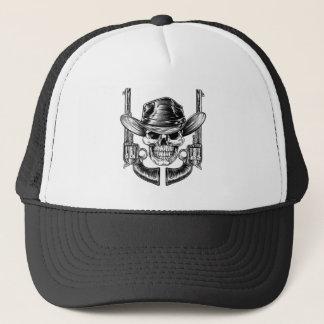 Cowboy Hat Skull and Pistols