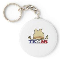 Cowboy hat texas keychain