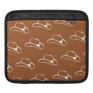 Cowboy Hat White Oranges iPad Sleeve
