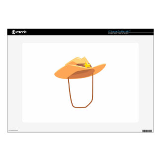 Cowboy Hat With Attaching String Drawing Isolated Laptop Decals