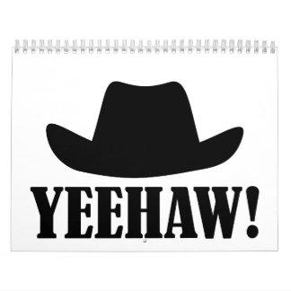 Cowboy hat yeehaw calendar