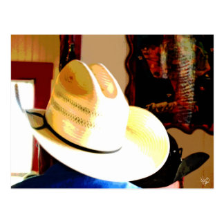 Cowboy Hats at Texas 290 Diner, Johnson City, TX Postcard