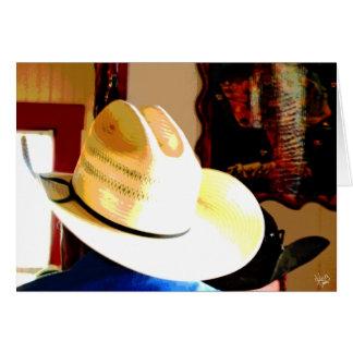 Cowboy Hats at Texas 290 Diner, Johnson City, TX Stationery Note Card