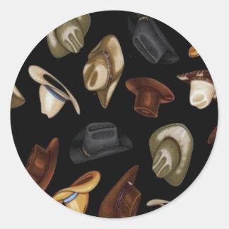 Cowboy Hats Classic Round Sticker