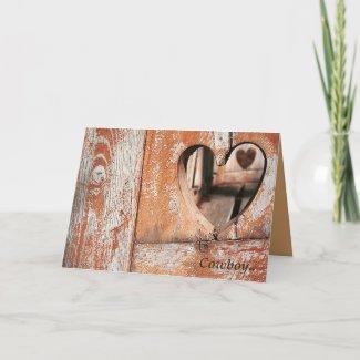 Cowboy Heart card