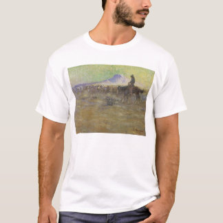 Cowboy Herding Cattle on the Range by Lon Megargee T-Shirt