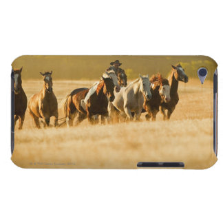 Cowboy herding horses 2 iPod touch case