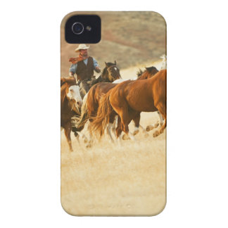 Cowboy herding horses 3 iPhone 4 cover