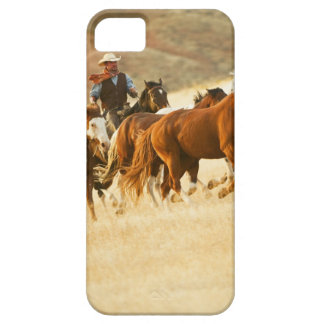 Cowboy herding horses 3 iPhone SE/5/5s case