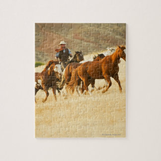 Cowboy herding horses 3 jigsaw puzzles