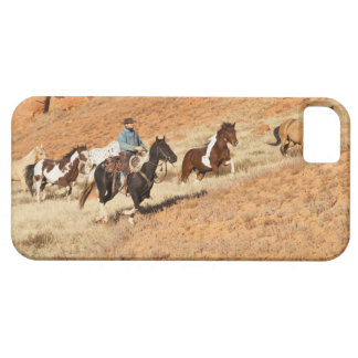 Cowboy herding horses iPhone SE/5/5s case
