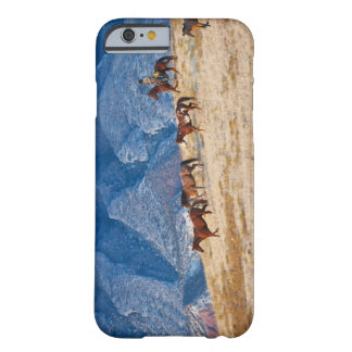 Cowboy herding wild horses barely there iPhone 6 case