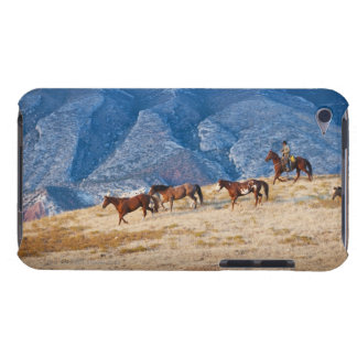 Cowboy herding wild horses barely there iPod cover