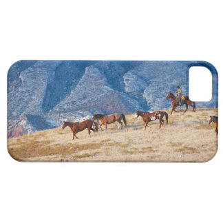 Cowboy herding wild horses iPhone SE/5/5s case