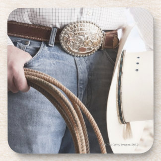 Cowboy holding a rope 2 coaster