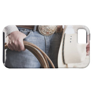 Cowboy holding a rope 2 iPhone SE/5/5s case