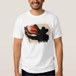 Cowboy holding Stars and Stripes, silhouette, Tee Shirt