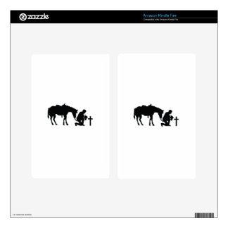 COWBOY HORSE AND CROS KINDLE FIRE DECALS