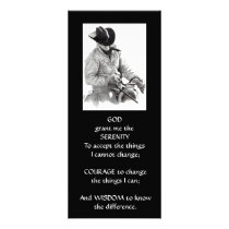 COWBOY, HORSE: ART: SERENITY PRAYER RACK CARD