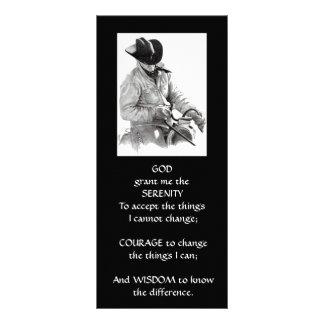 COWBOY, HORSE: ART: SERENITY PRAYER RACK CARD