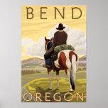 Cowboy & Horse - Bend, Oregon Posters