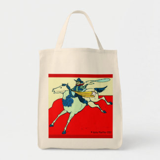 Cowboy Horse by Katie Pfeiffer Grocery Tote Bag