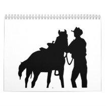 Cowboy horse calendar