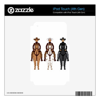 Cowboy - Horse front Decals For iPod Touch 4G