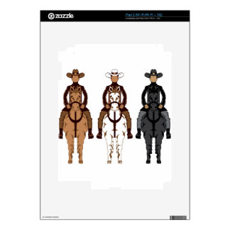 Cowboy - Horse front Decals For The iPad 2
