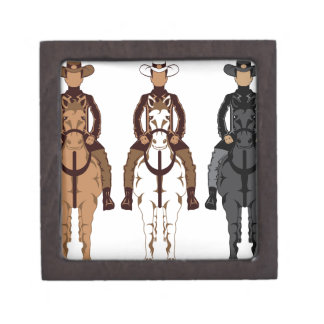 Cowboy - Horse front Jewelry Box