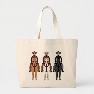 Cowboy - Horse front Large Tote Bag