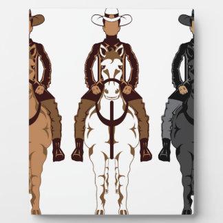 Cowboy - Horse front Plaque