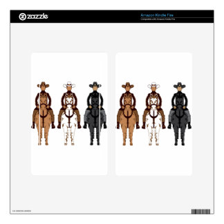Cowboy - Horse front Skin For Kindle Fire