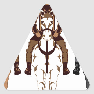 Cowboy - Horse front Triangle Sticker